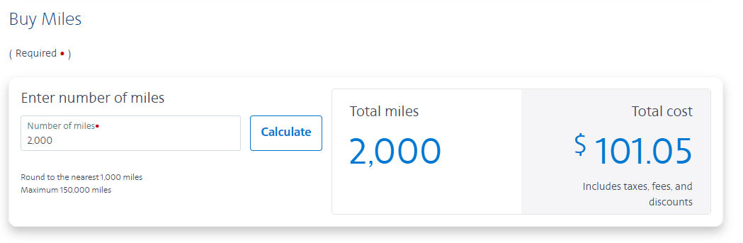 Buying miles directly from American Airlines