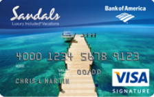 Sandals Visa Signature® Credit Card